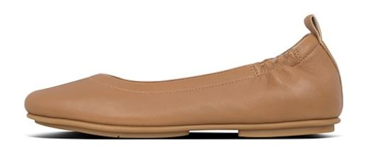 Arch support in ballet flats